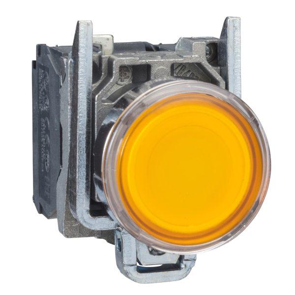 پوش باتن فلزی نارنجی اشنایدر الکتریک