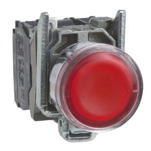پوش باتن فلزی قرمز اشنایدر الکتریک جهت لامپ BA9s بدون لامپ